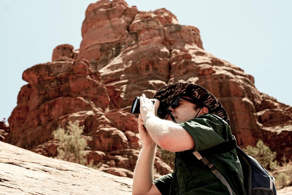 Danny Photographying Sedona