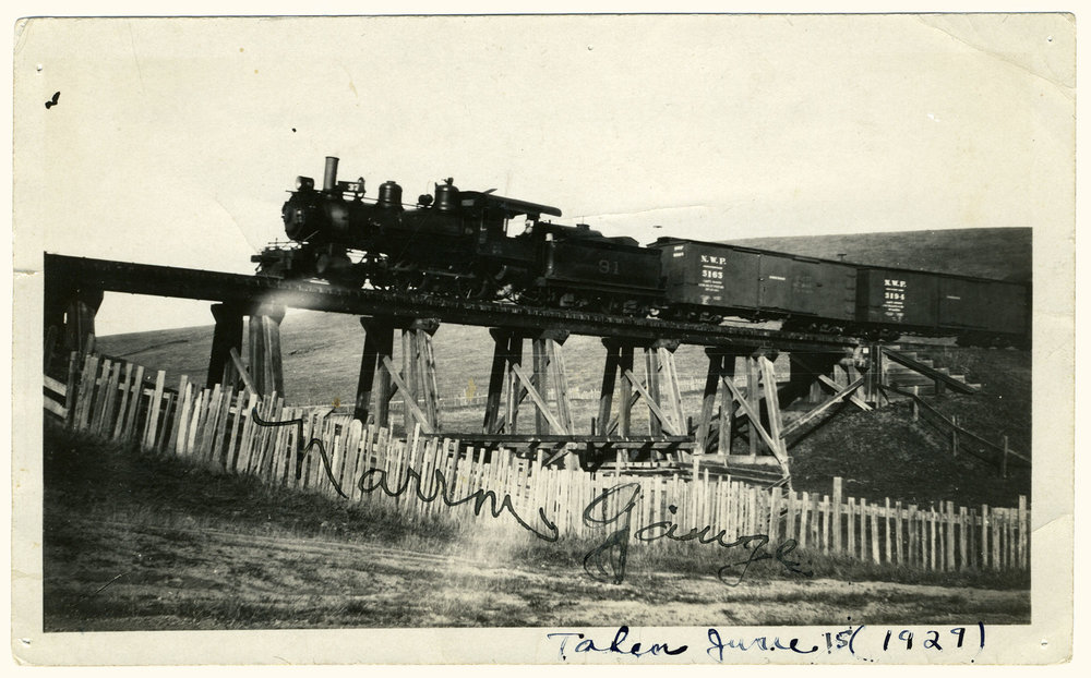 Train at Dillon Beach Road Trestle