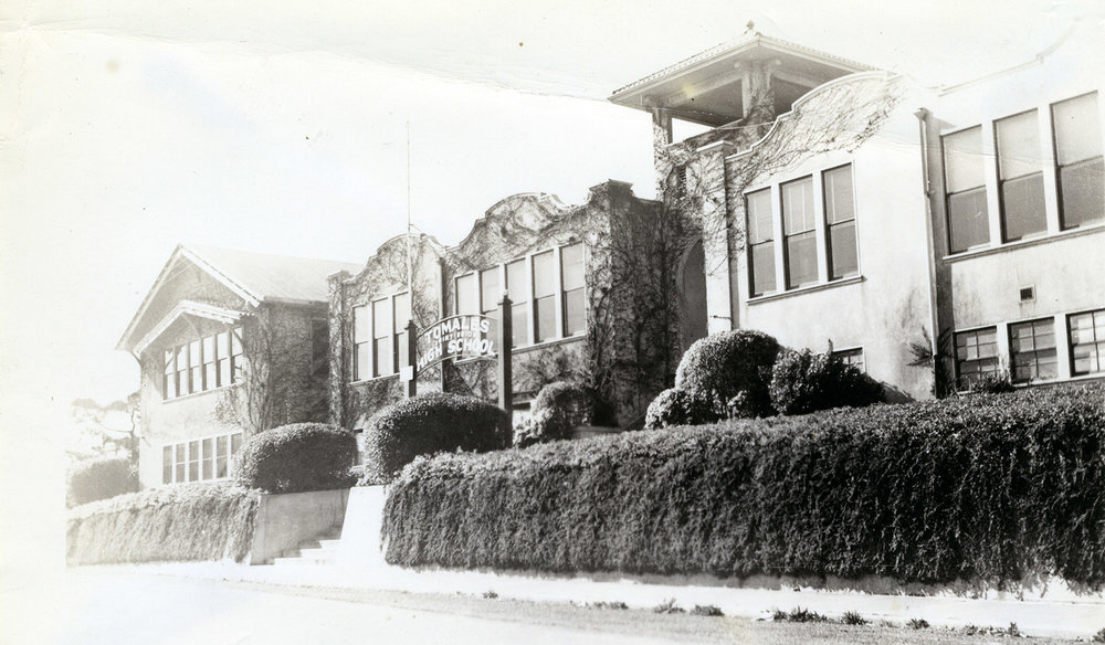 Tomales High School with Vines
