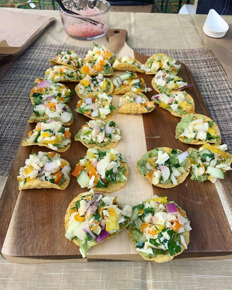 Plant-based ceviche at O'side Flavor!