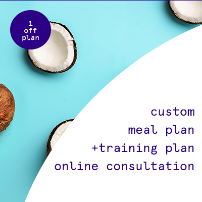 1 off custom meal + training plan    $199.95USD