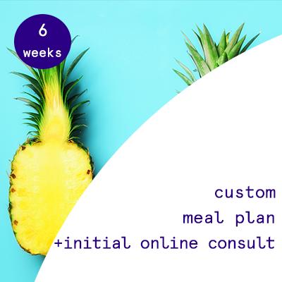 6 weeks - custom meal plans  $195.00USD