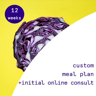 12 weeks - custom nutrition plans  $250.00USD