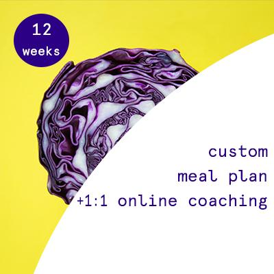 12 weeks - custom nutrition plans + 1:1 online coaching  $565.00USD