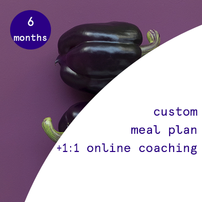 6 months - custom nutrition plans + 1:1 online coaching  $1100.00USD