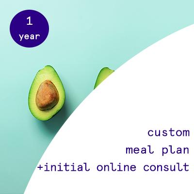1 year - custom nutrition plans  $875.00USD
