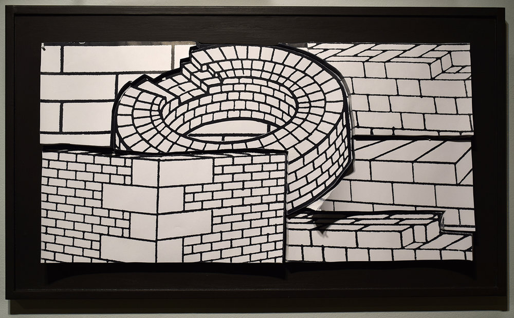 all bricks - photocopies on paper, 22