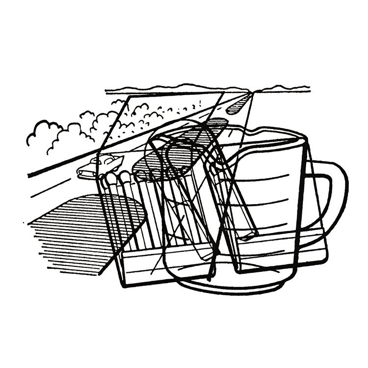 B Sides: magnet,  matchbook, median, measuring cup