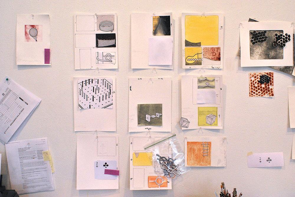 studio wall in progress