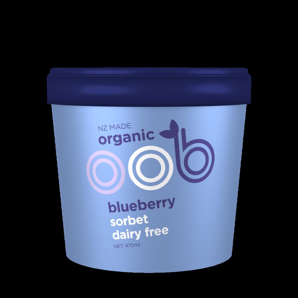 organic blueberry sorbet
