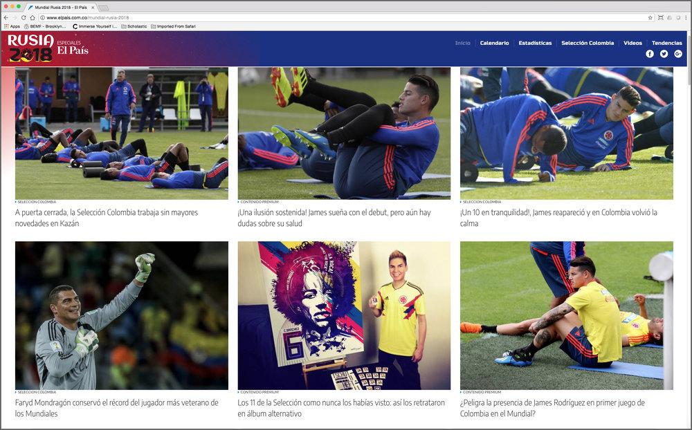 El País (homepage FEATURE) Rusia 2018 – Especialles EL País