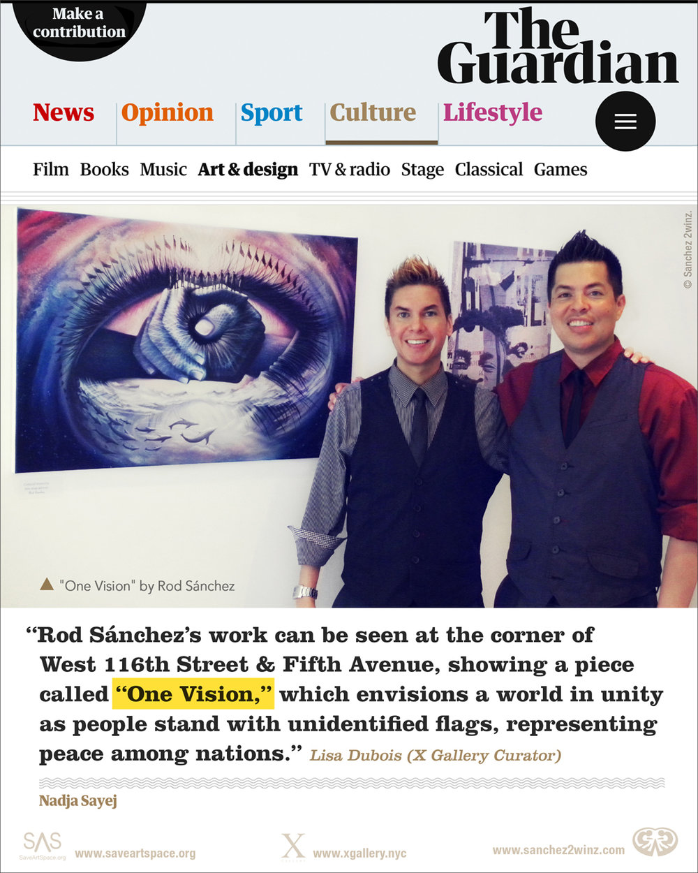 "The Guardian – Featuring artwork ""One vision,"" by Rod Sanchez"