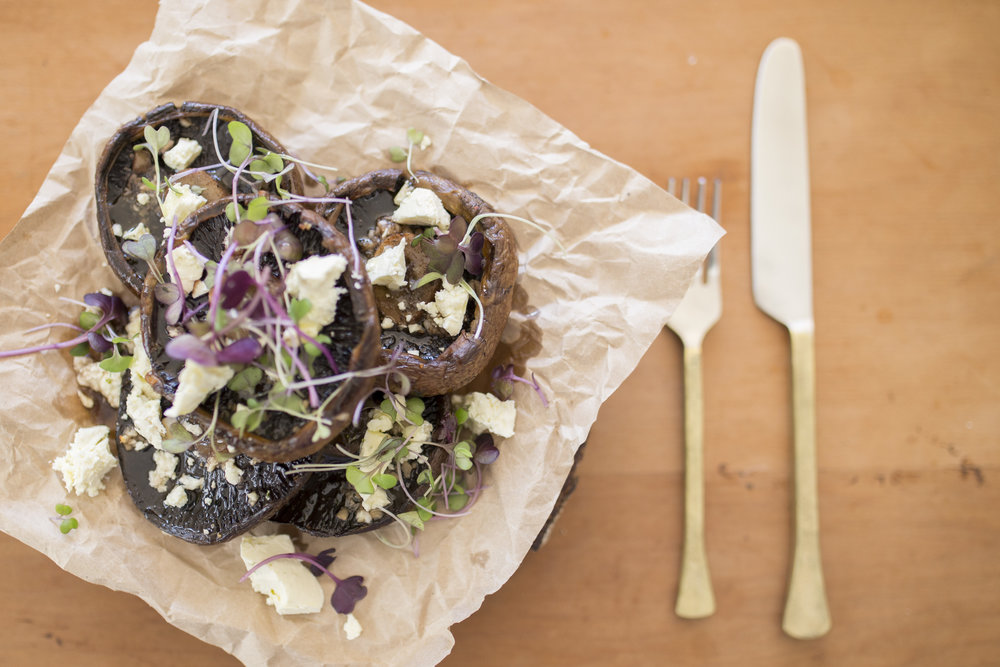 Mushroom sharing plate