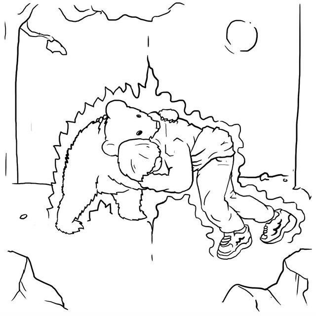 Inktober 3: Kahbib 1997  #ufc#mma#khabibvsmcgregor #khabib#khabibvsbear#roots#inktober#russia#art#sketch#bear
