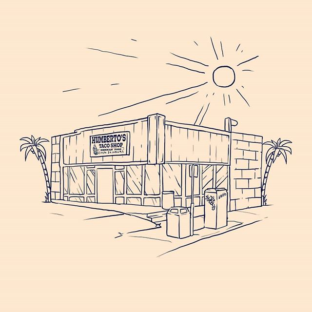 Inktober 5: Best Food in the World Ever  #humbertostacoshop#inktober#sandiego#throwback#food#mexicanfood#rolledtacos #bestfoodever#restaurant#california#illustration#design#art