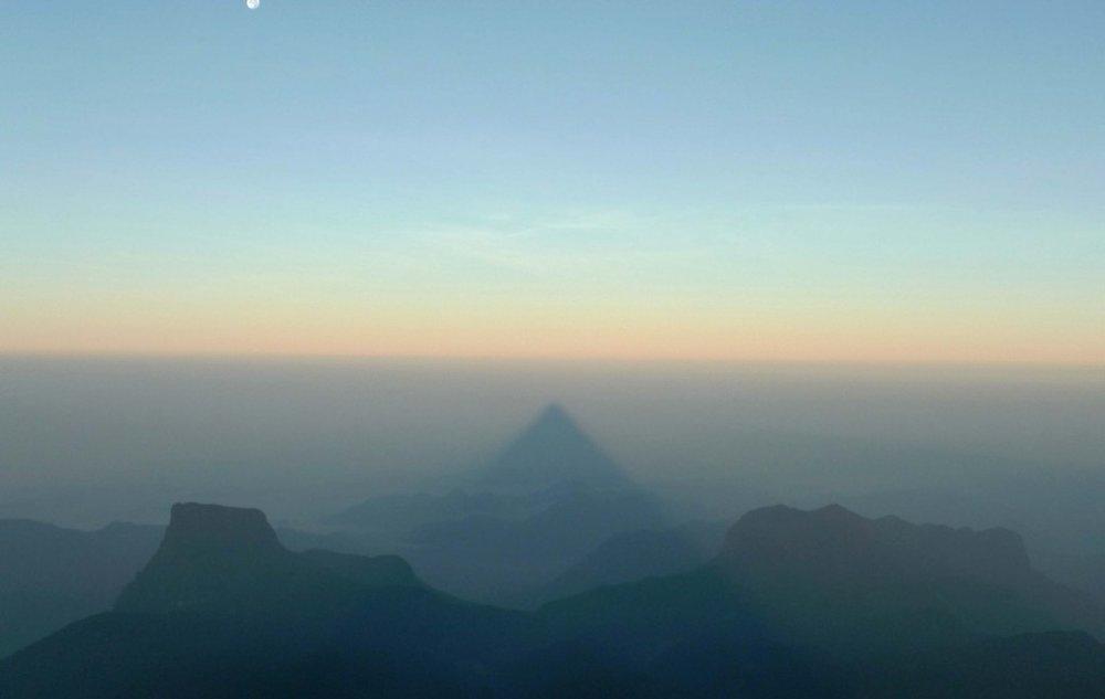 Shadow of Adam's peak…