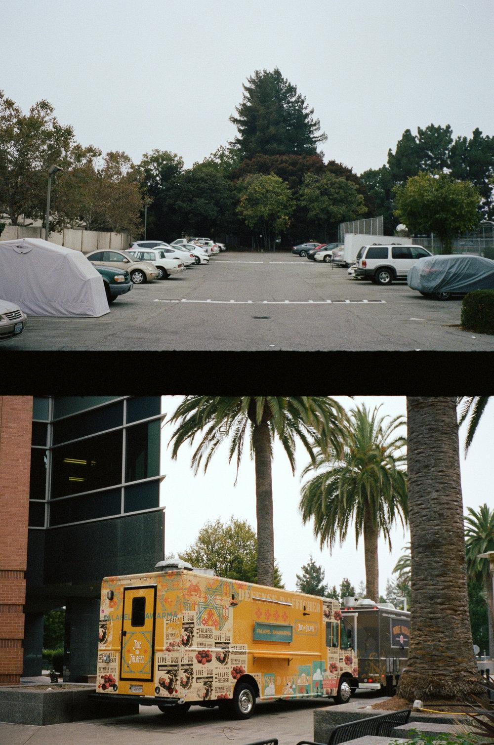 是Google辦公室的餐車誒!