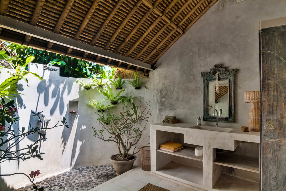 open air bathroom