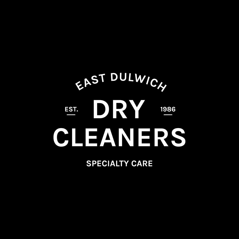 Small business logo design for East Dulwich Dry Cleaners