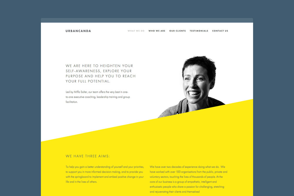 Modern affordable web design for Urbancanda London