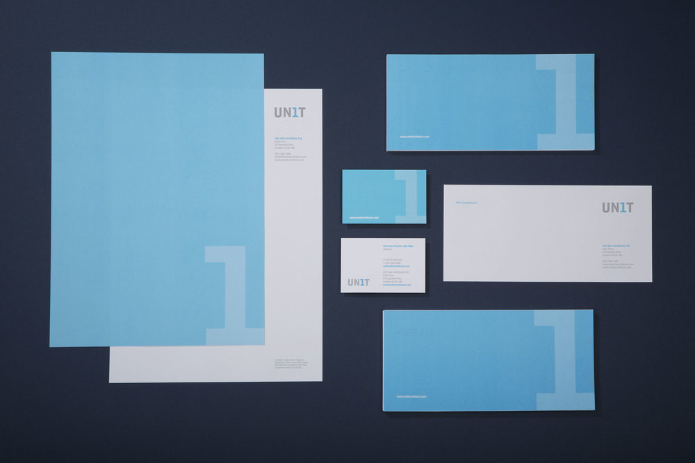 Creative affordable graphic design for Unit 1 architects