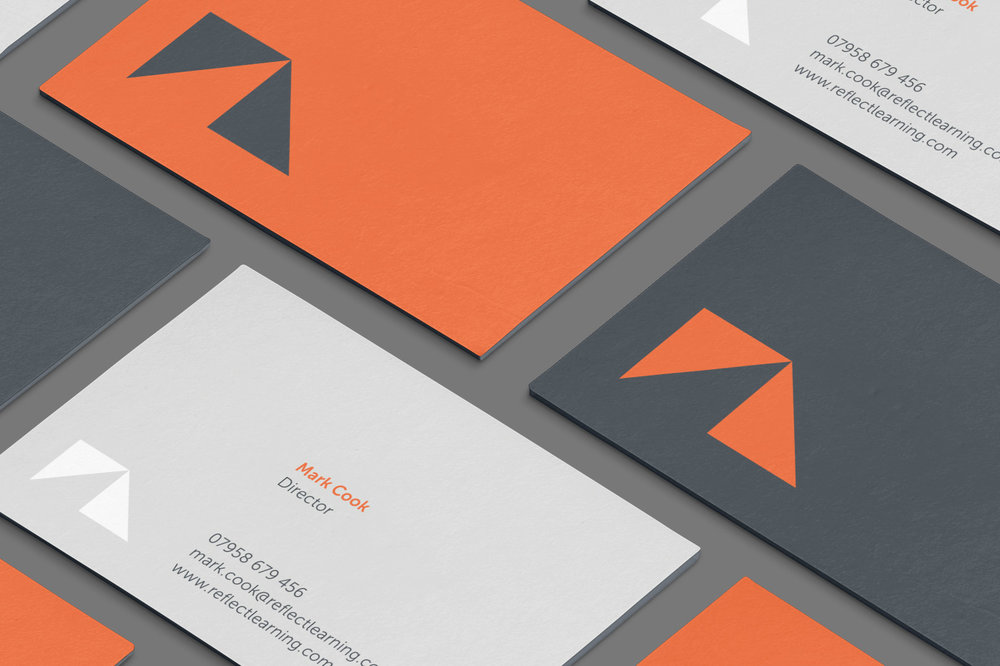 Business card branding design for Reflect Learning