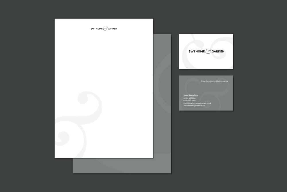 Brand identity for SW1 Home & Garden London for print