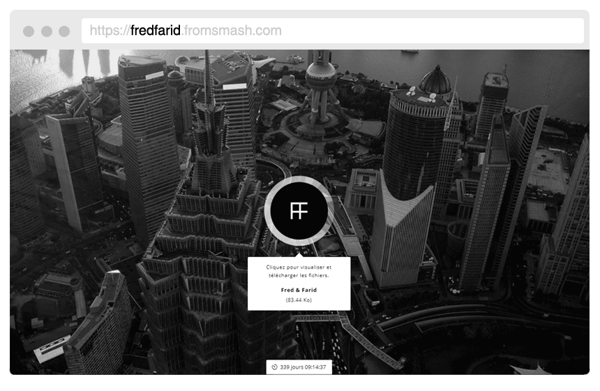 Tu propio diseño - Personaliza Smash insertando tu propio logotipo y tus fondos de pantalla. También puedes personalizar la URL, los correos electrónicos enviados con los archivos, además del mensaje de espera de descarga de los archivos.