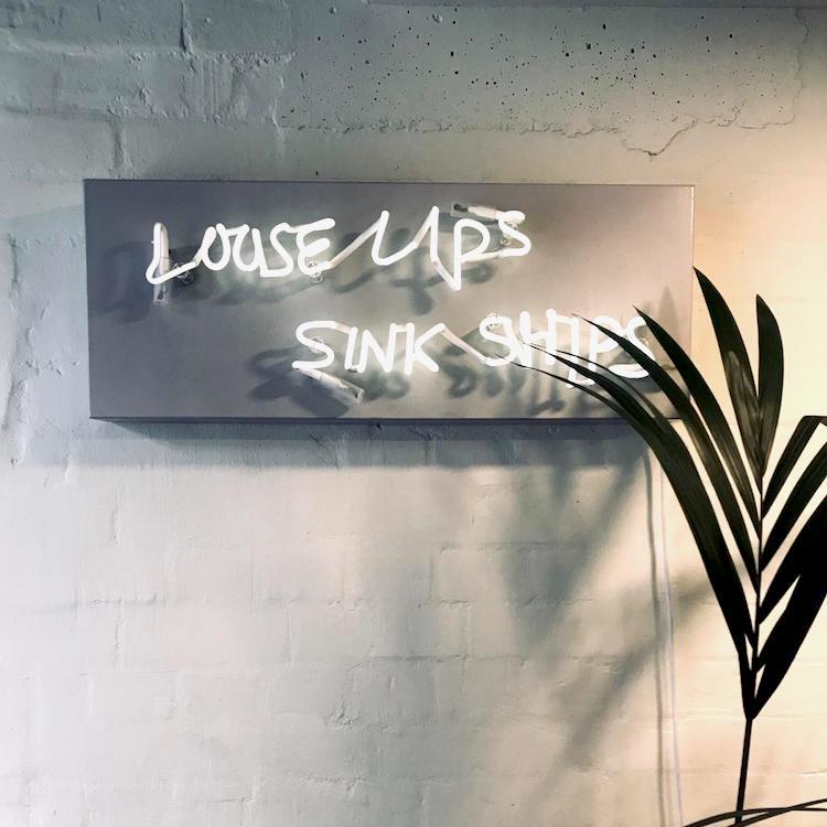 Loose lips sink ships.  Inside Organic Livity's pop-up.