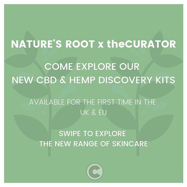 🌱Looking to revamp your skincare routine? Look no further than @NaturesRoot, an award-winning line of organic CBD and Hemp skincare products.  Our new Discovery Kits will have you and your skin sorted. ✨The Exfoliation Kit: Slough off dead skin and discover that glow from within with the new Hemp Coffee Scrub. ✨The Gym Kit: Perfect for those looking to eliminate aluminium deodorants and keep their gym kit green and clean. ✨The Relief Kit: Whether you're looking for post-gym sore muscle alleviation or a little help to get through your menstrual cramps the Sore Muscle Body Oil will do the trick ✨The Hydration Kit: Made especially for those with dehydrated and dry skin, the 200mg Wound and Skin Care Face Oil, coupled with the Unscented Hemp Lotion is the ultimate moisture-inducing combo for your face.  Shop LINK IN BIO for the full range and to experience the best of Nature's Root. #theCURATORltd #NaturesRoot #CBDSkincare #CannabiSKIN #CBD #Hemp #CBD #cleanbeauty #greenbeauty #cannabis #skincare #beauty #wellness #plantbased #organic