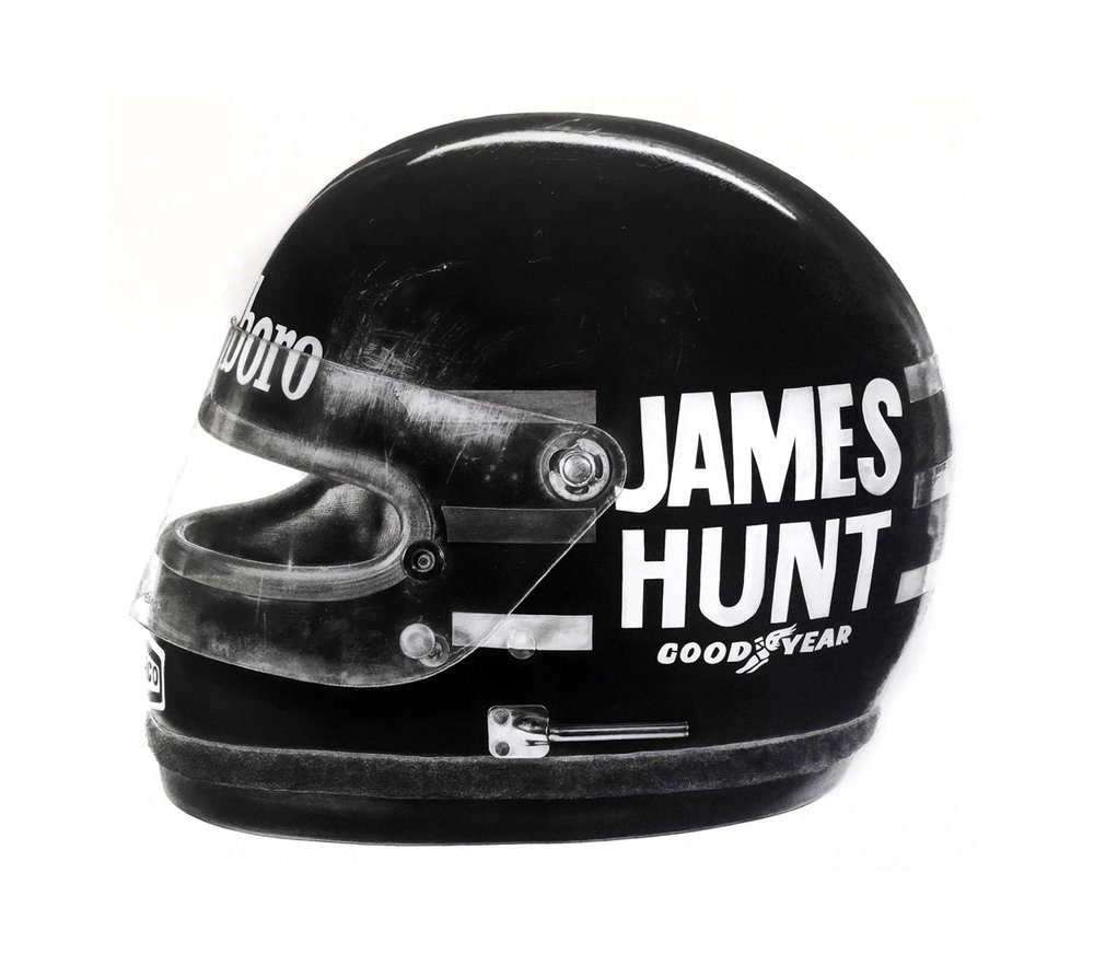 JAMES HUNT 1976 F1 WINNING HELMET