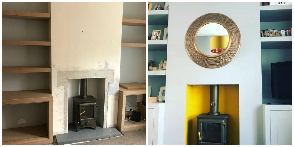 Fireplace renovation
