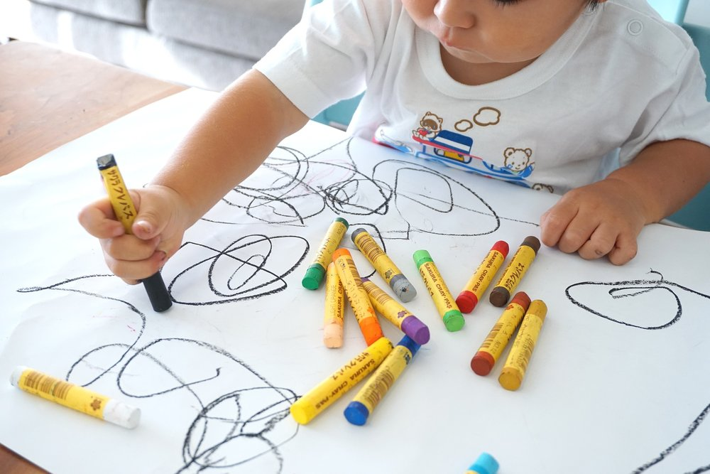Child crayoning