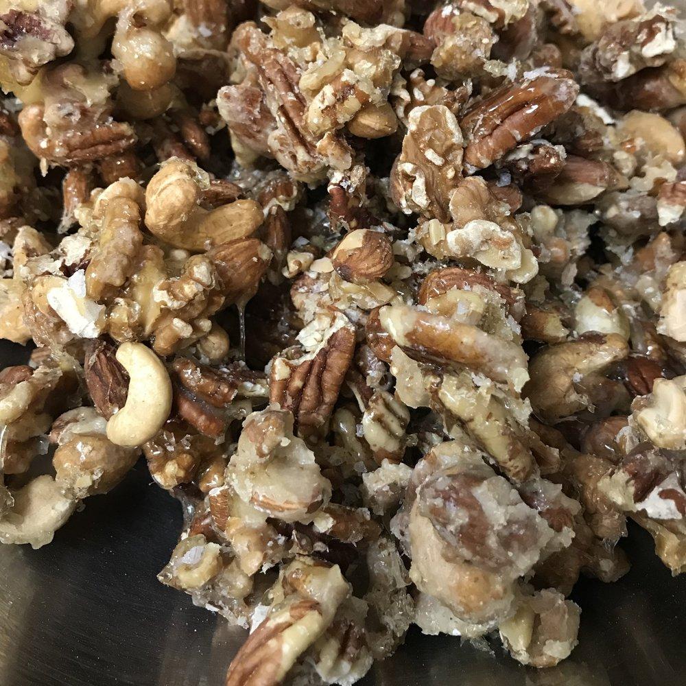 Salted Caramel Nuts . Make It Ahead . Week 1