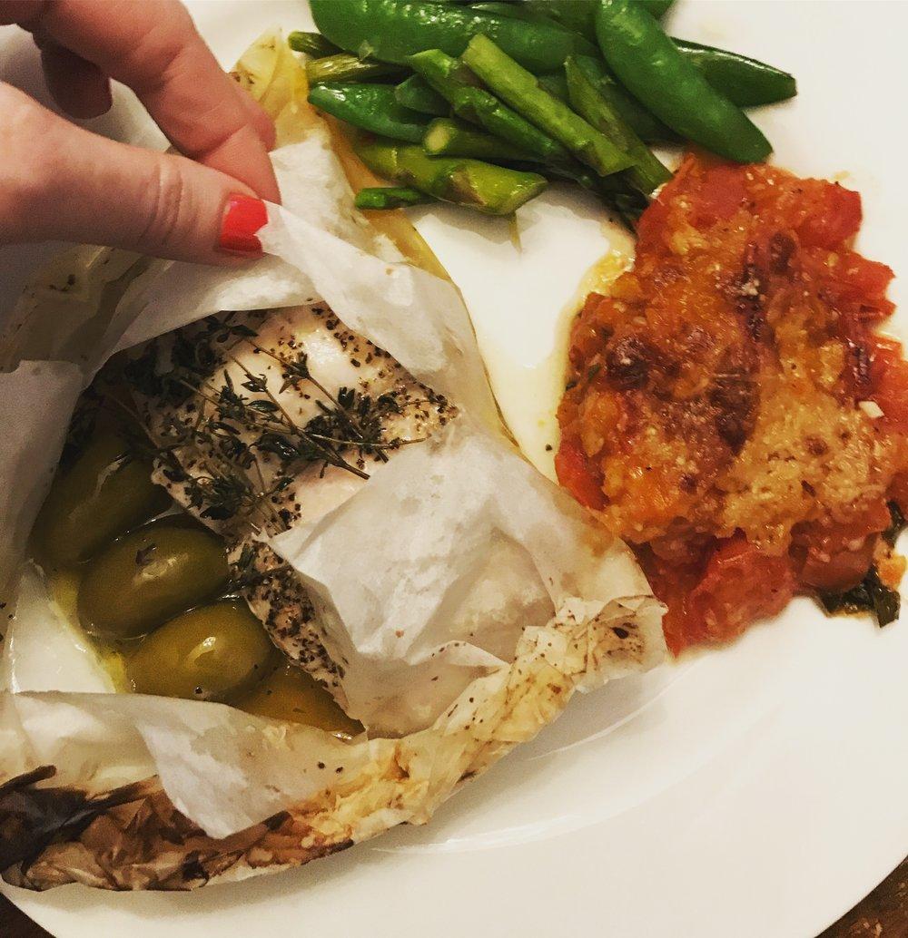 Herb Roasted Fish . Make It Ahead . Week 1