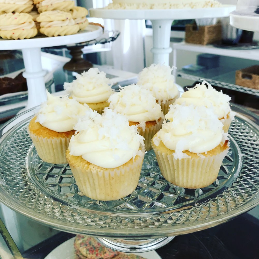 Coconut Cupcakes with Cream Cheese Icing . Barefoot Contessa Cookbook . Week 2
