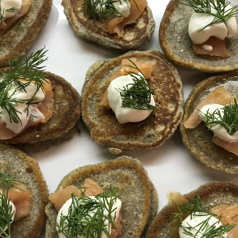 Blinis with Smoked Salmon . Barefoot in Paris . Week 2