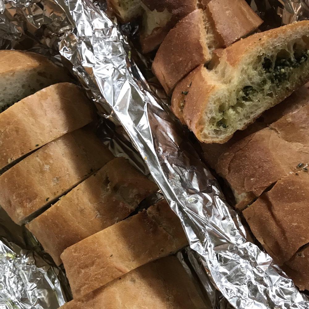 Garlic Ciabatta Bread . Back to Basics . Week 3