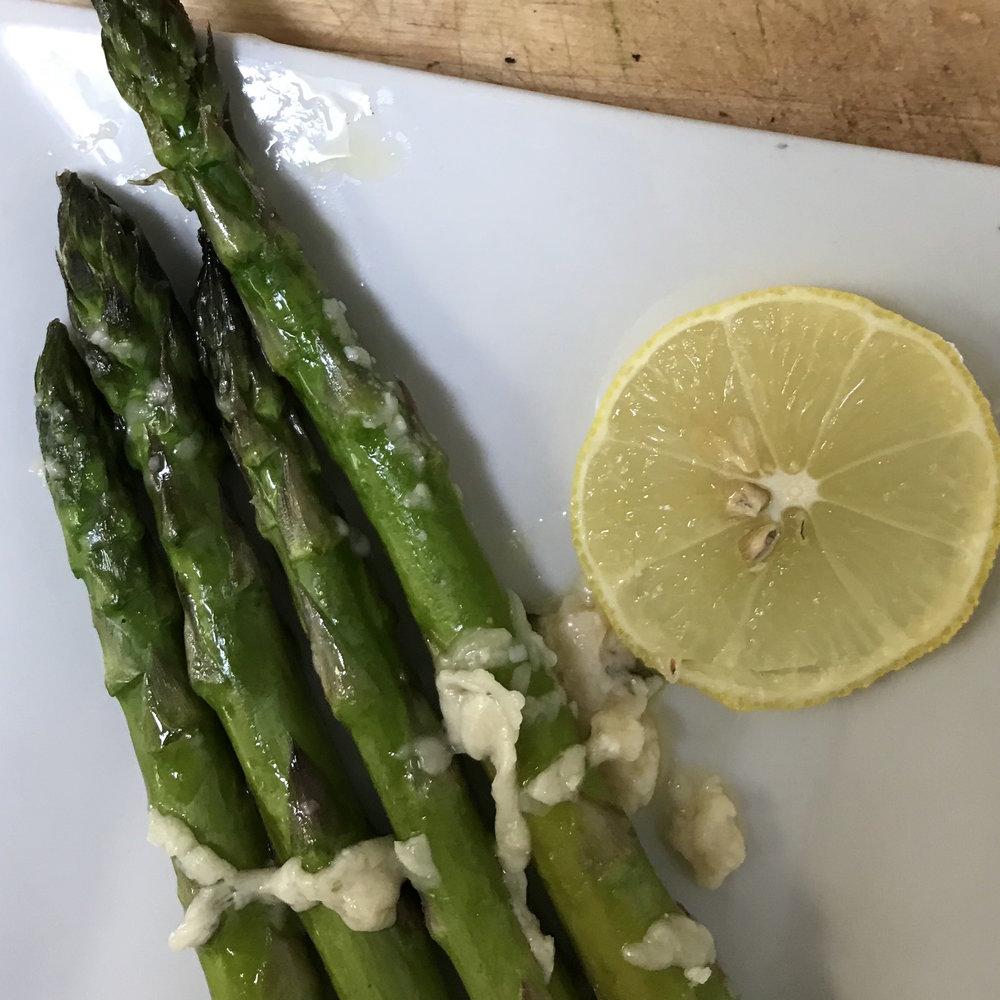 Parmesan Roasted Asparagus . Family Style . Week 3