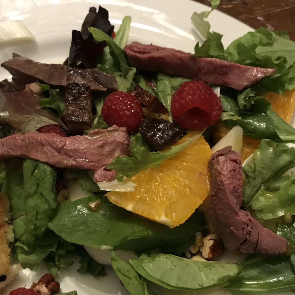 Warm Duck Salad . At Home . Week 3