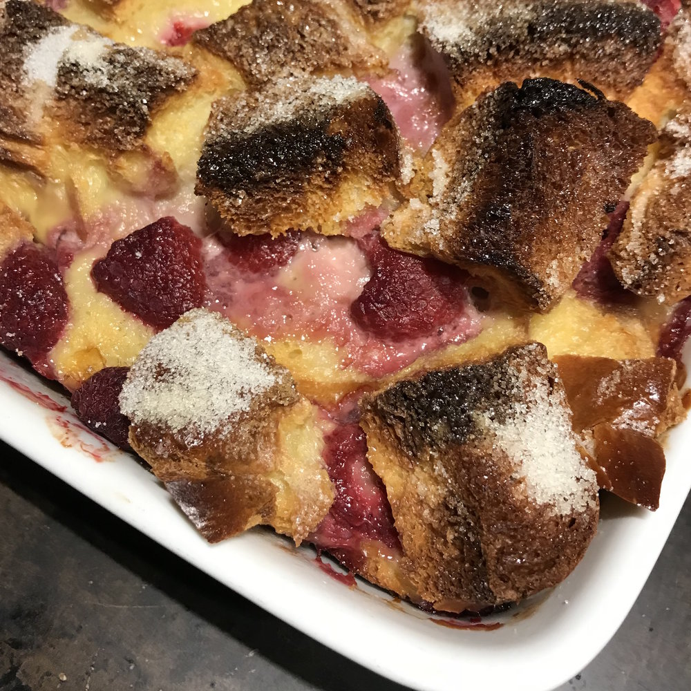 Raspberry Baked French Toast . Make It Ahead . Week 3