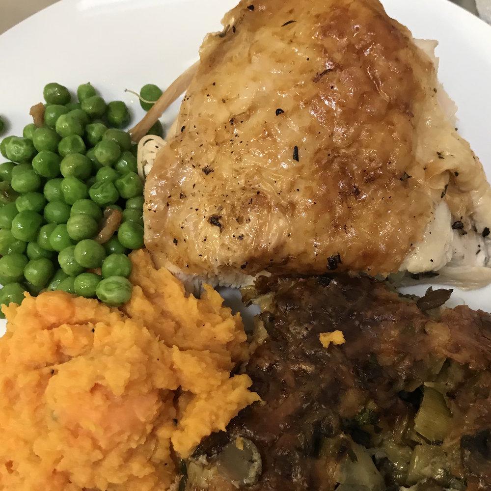 Accidental Turkey . Barefoot Contessa Foolproof . Peas & Pancetta . Make It Ahead . Week 4