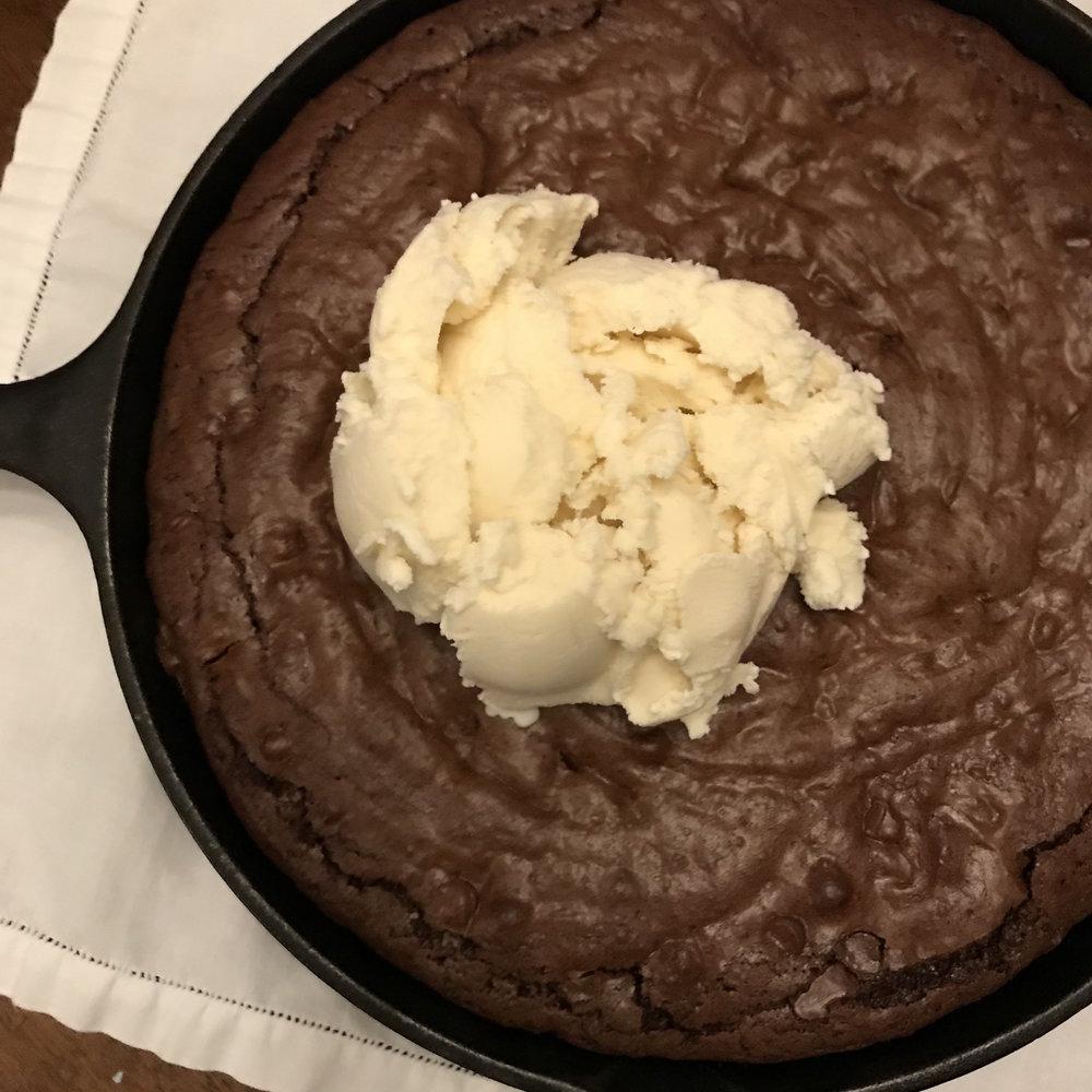 Skillet Brownies . Make It Ahead . Week 4
