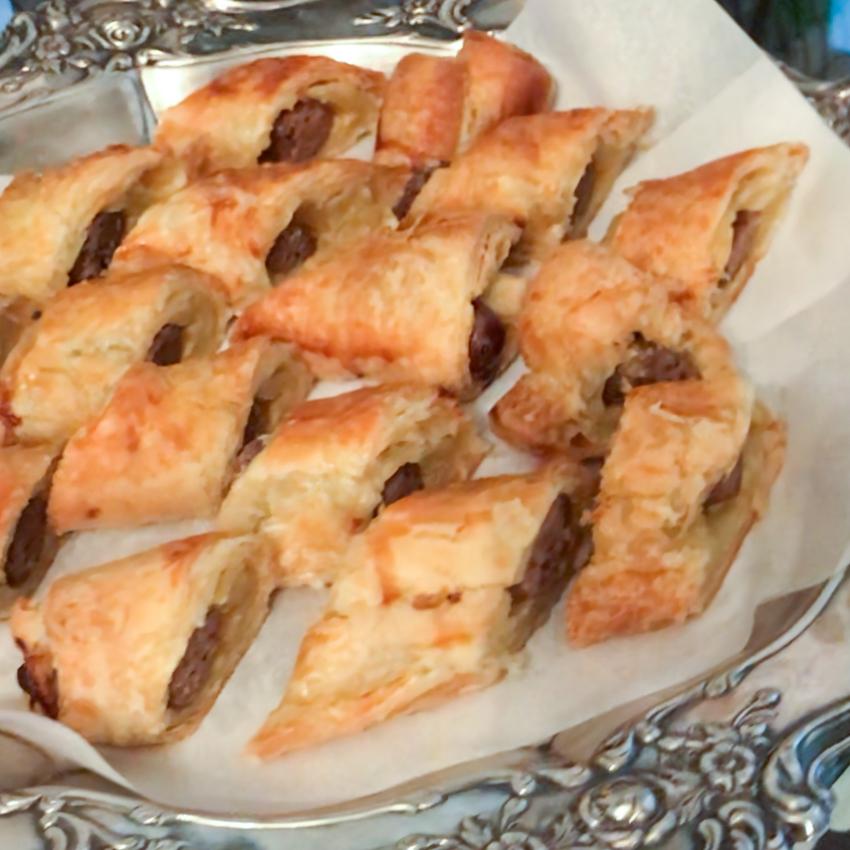 Lamb Sausage in Puff Pastry . Barefoot Contessa Cookbook . Week 5