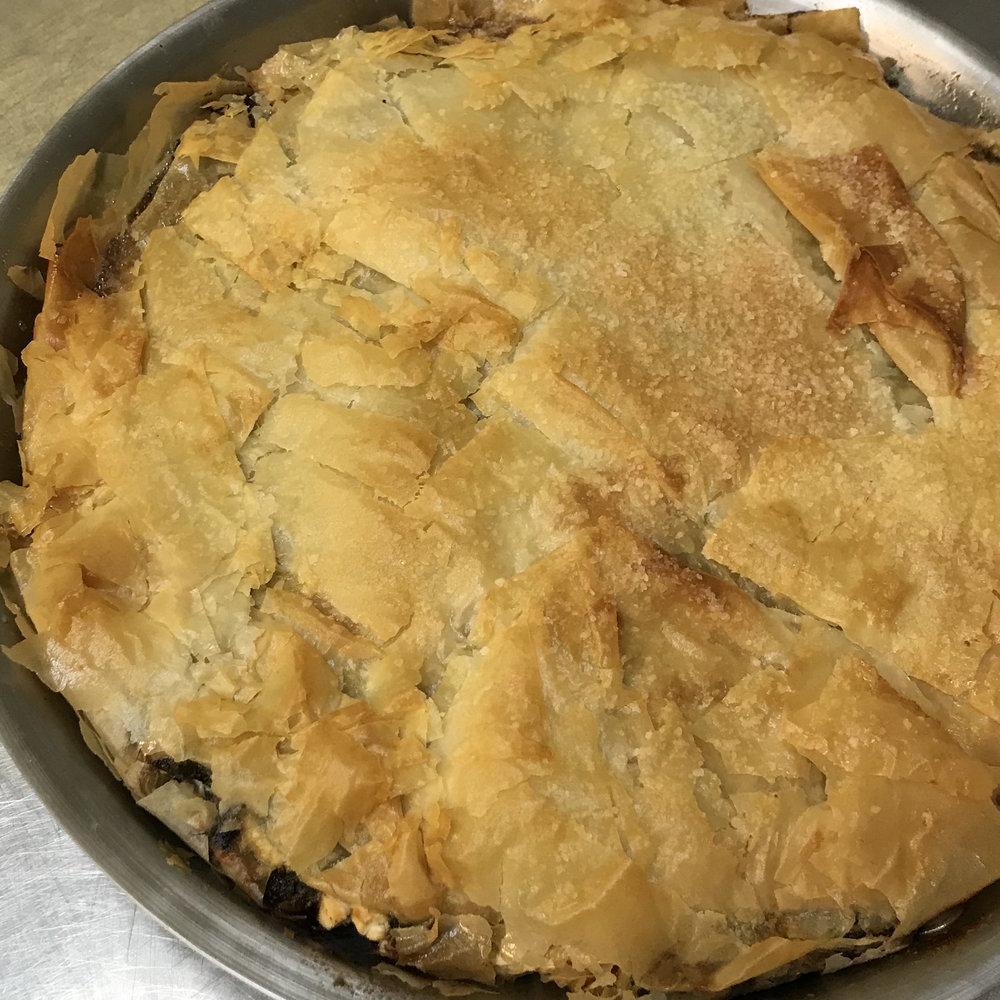 Spinach Pie . Barefoot Contessa Cookbook . Week 5