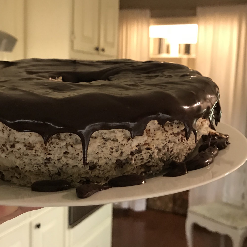 Black & White Angel Food Cake . At Home . Week 7