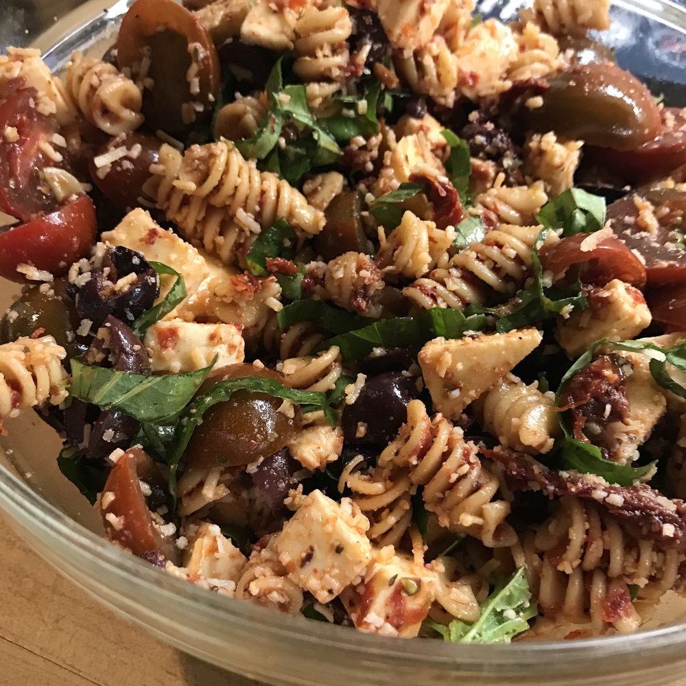Pasta with Sun Dried Tomatoes . Family Style . Week 11