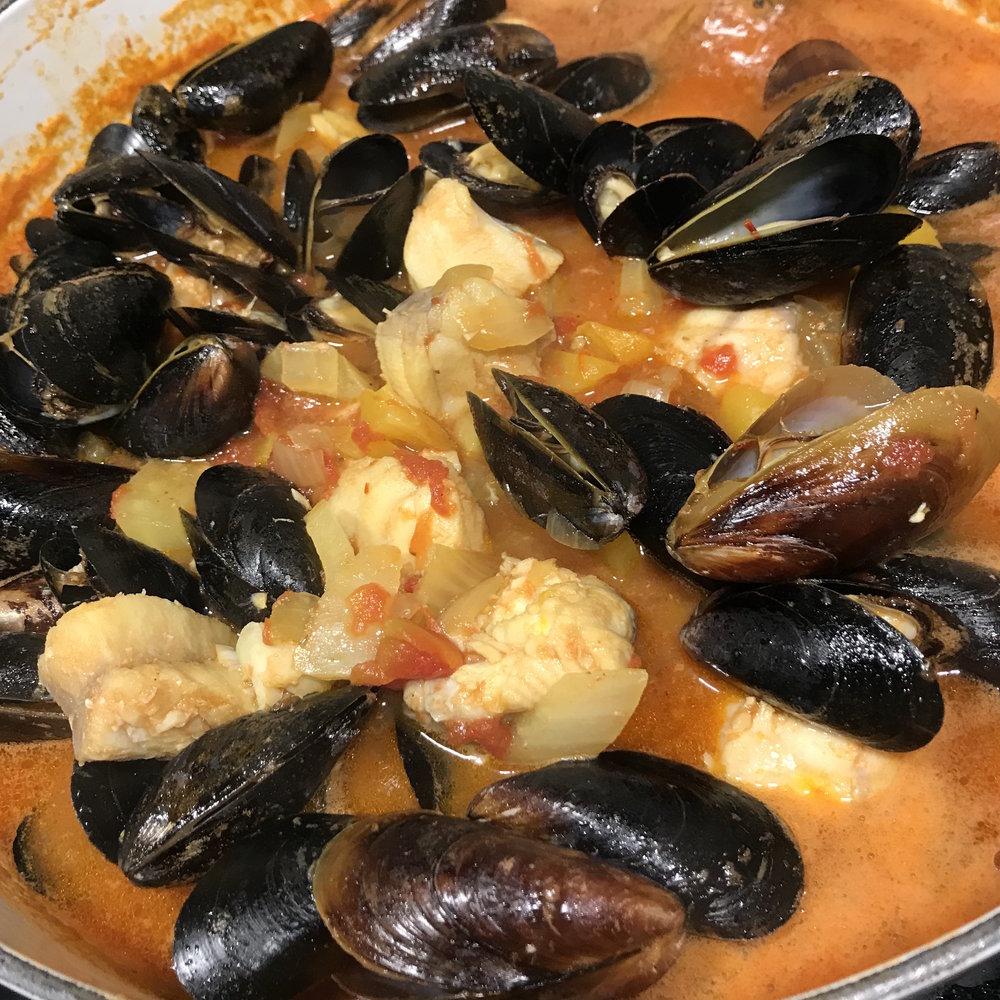 Provençal Fish Stew with Sriracha Rouille . Make It Ahead . Week 15