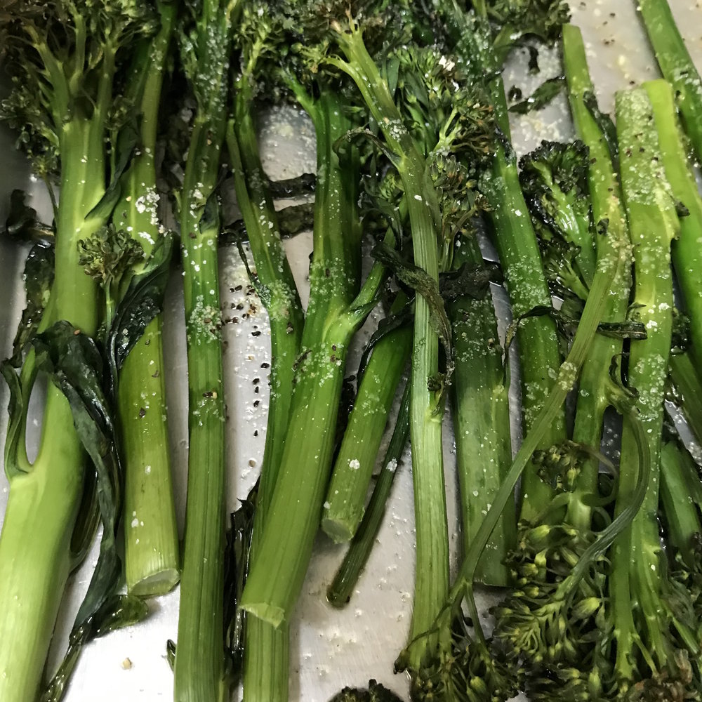 Roasted Broccolini . Cooking for Jeffrey . Week 16