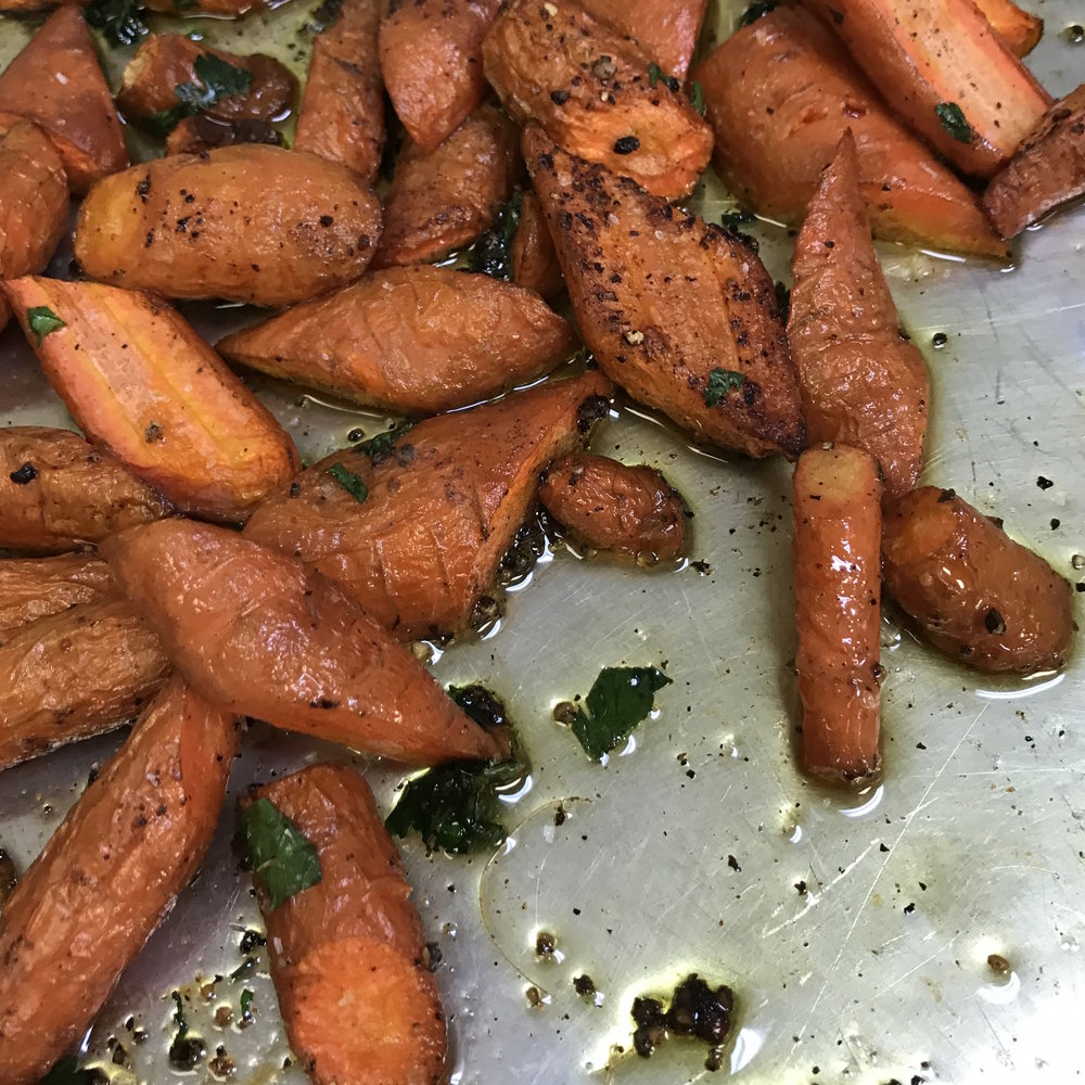 Roasted Carrots . Barefoot Contessa Cookbook . Week 16